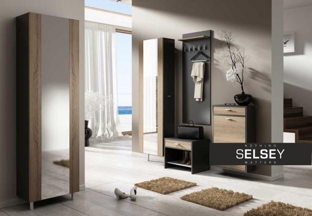 drehschrank grafikus doppelgarderobe mit spiegel eng. Black Bedroom Furniture Sets. Home Design Ideas