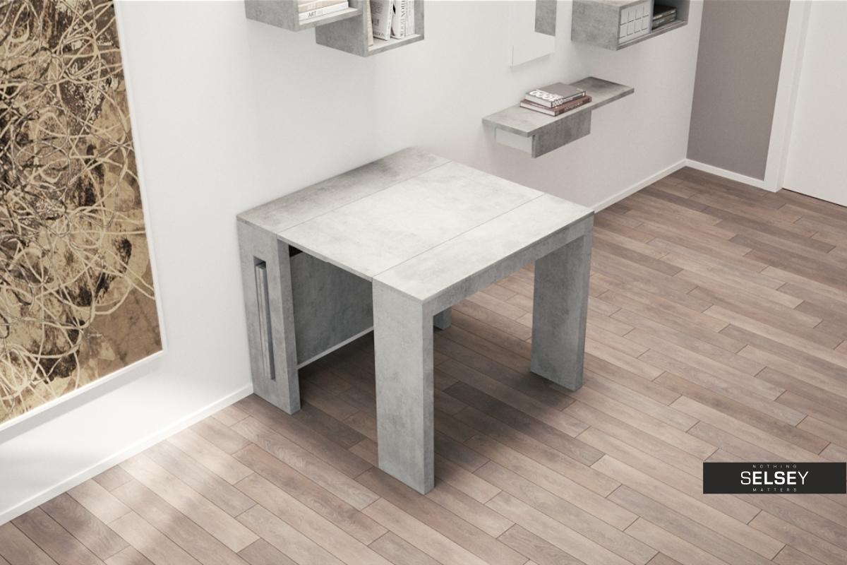 ausziehtisch roma in betonoptik. Black Bedroom Furniture Sets. Home Design Ideas