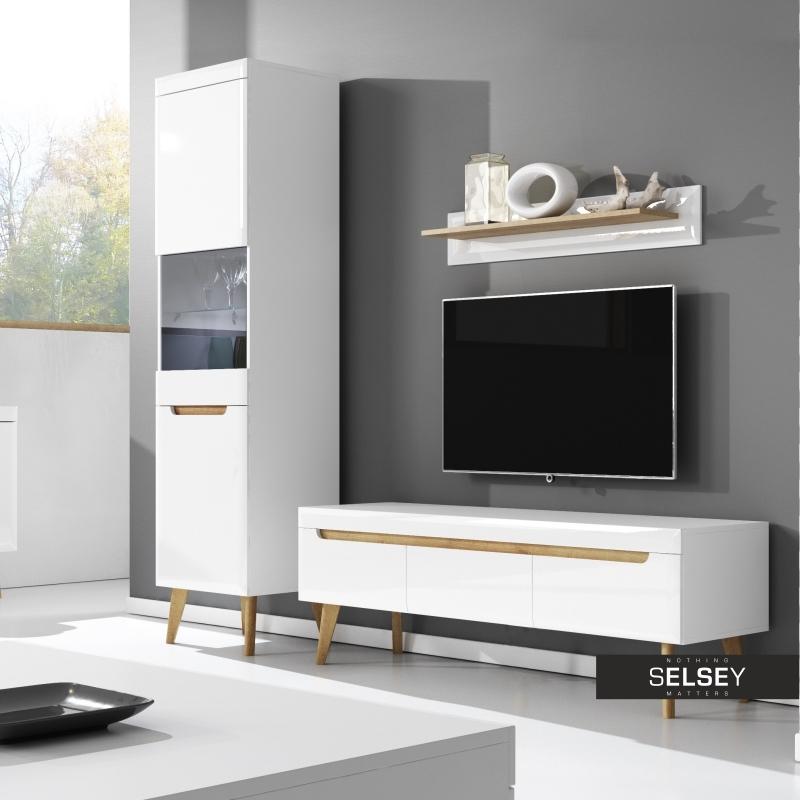 tv lowboard living mit 3 schubladen. Black Bedroom Furniture Sets. Home Design Ideas