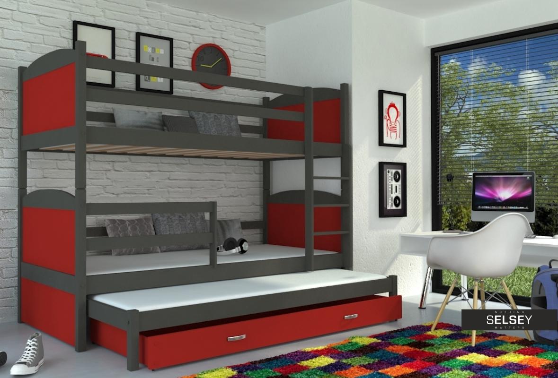 Etagenbett Für 3 Personen : Personen etagenbett matek mit schubkasten und matratzen