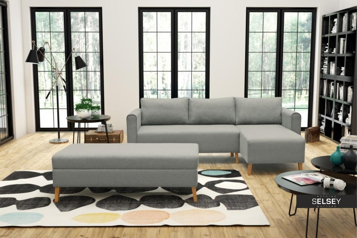 ecksofa thorstein mit hocker und schlaffunktion. Black Bedroom Furniture Sets. Home Design Ideas