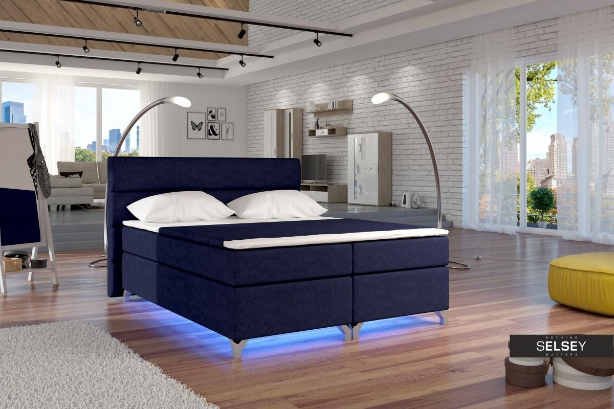boxspringbett luciano mit bettkasten. Black Bedroom Furniture Sets. Home Design Ideas