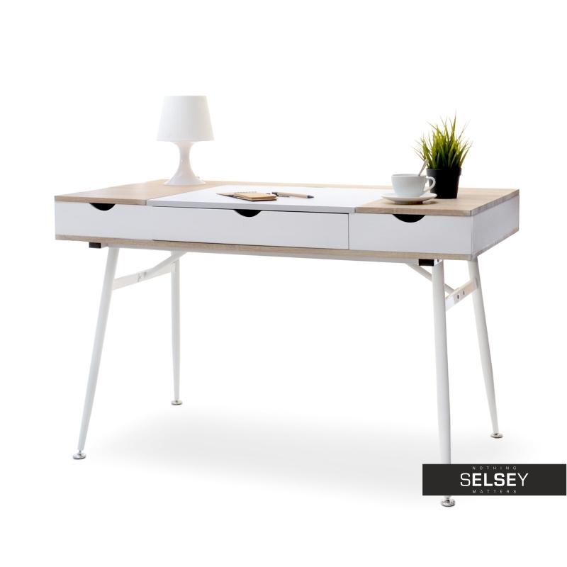 Designer Schreibtisch BODEN weiß