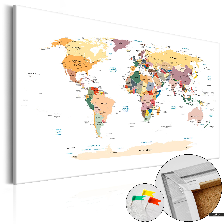 Pinnwand Weltkarte Klassisch