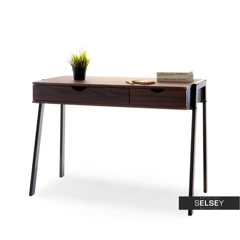 schreibtisch lund in nussbaum optik. Black Bedroom Furniture Sets. Home Design Ideas