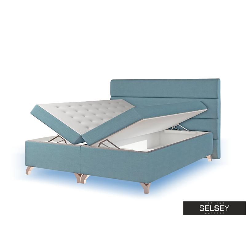 boxspringbett luciano mit bettkasten bonellfederkenmatratze topper und led rgb. Black Bedroom Furniture Sets. Home Design Ideas