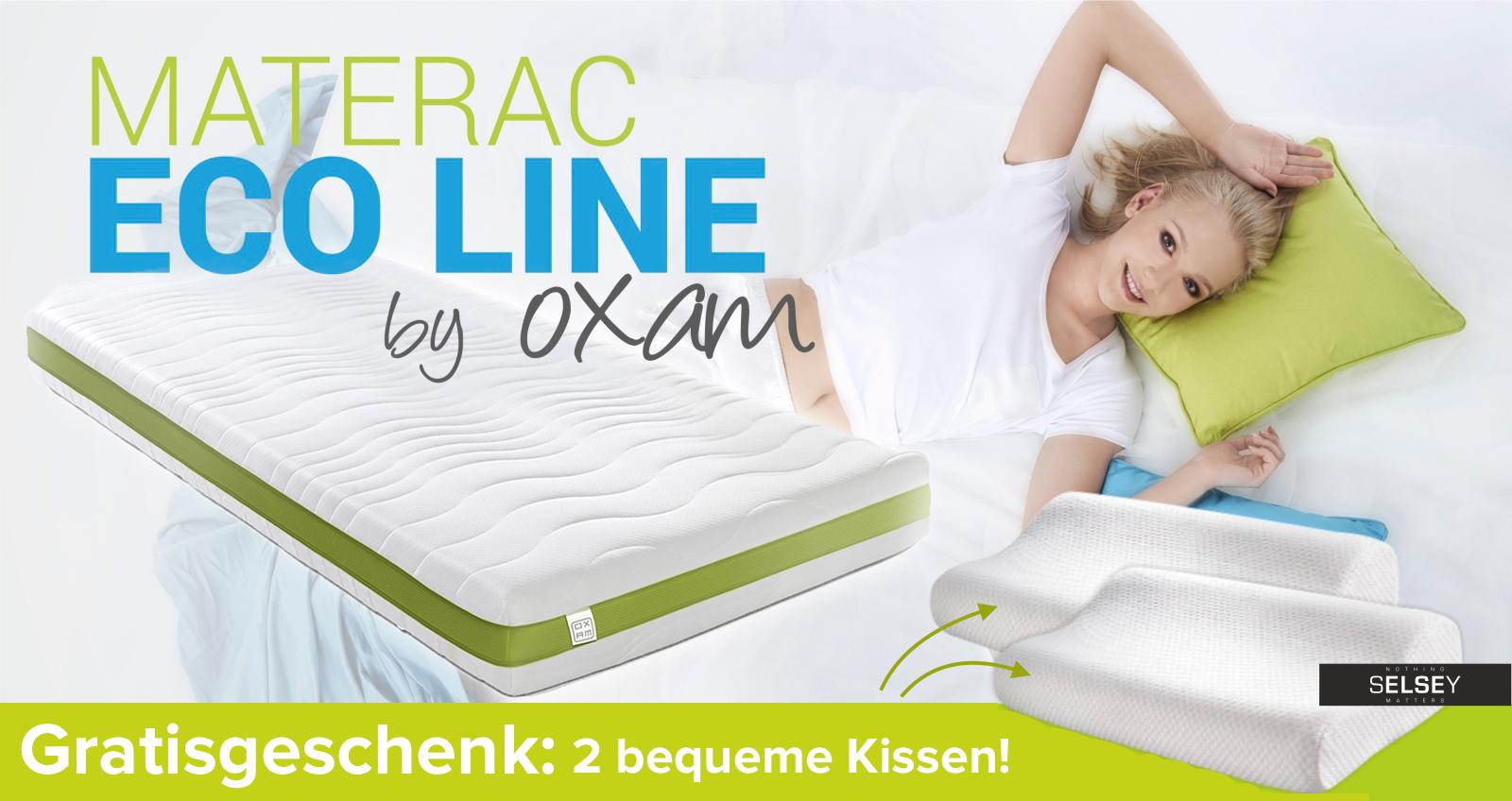 taschenfederkernmatratze eco line 2 kissen und. Black Bedroom Furniture Sets. Home Design Ideas