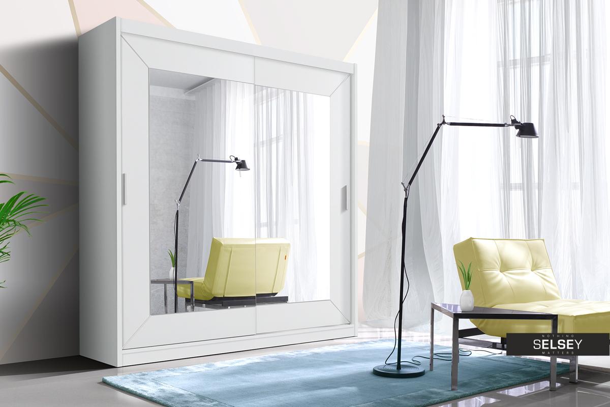 kleiderschrank alfa mit spiegel. Black Bedroom Furniture Sets. Home Design Ideas