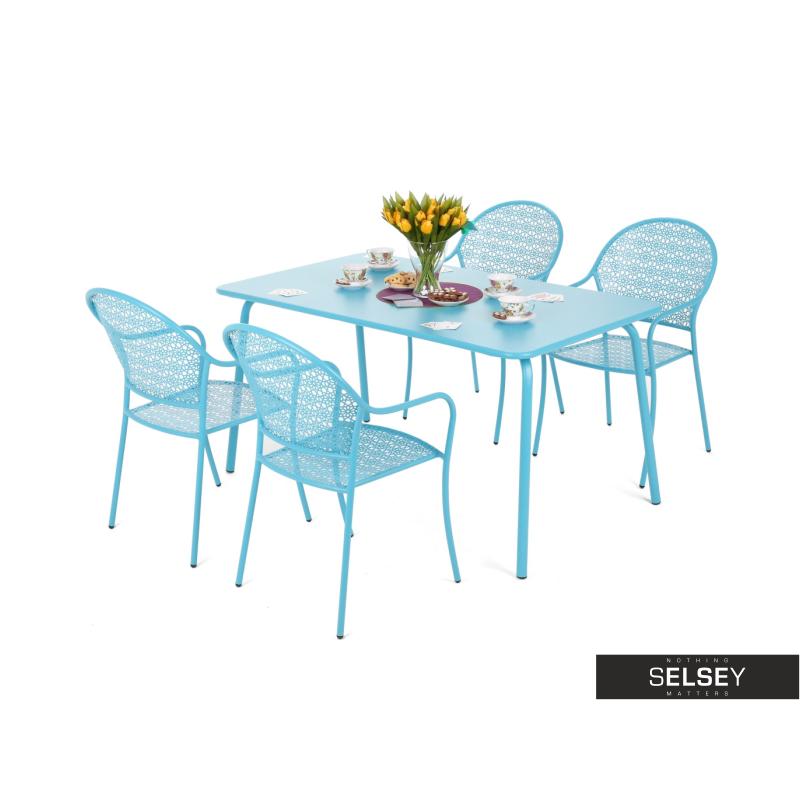 Gartenmöbel-Set FILIGRAN blau