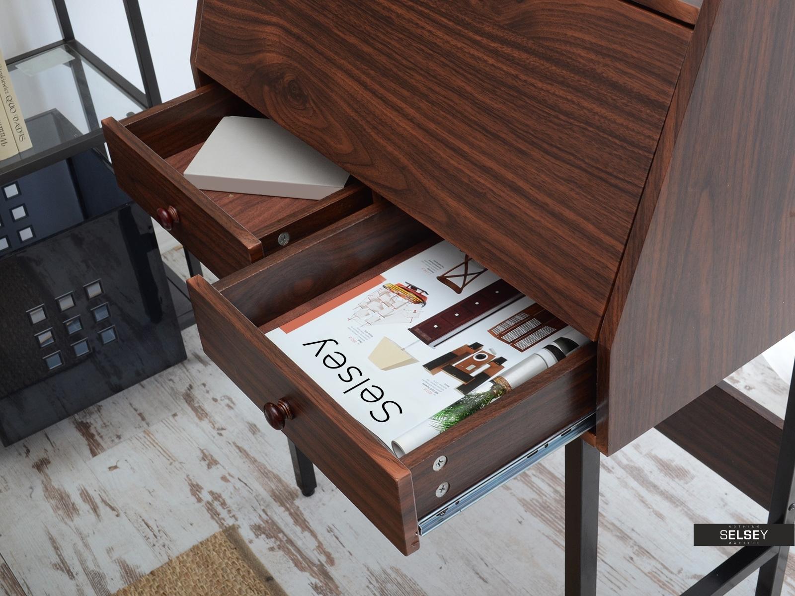 schreibtisch sekret r kalmar in nussbaumoptik. Black Bedroom Furniture Sets. Home Design Ideas