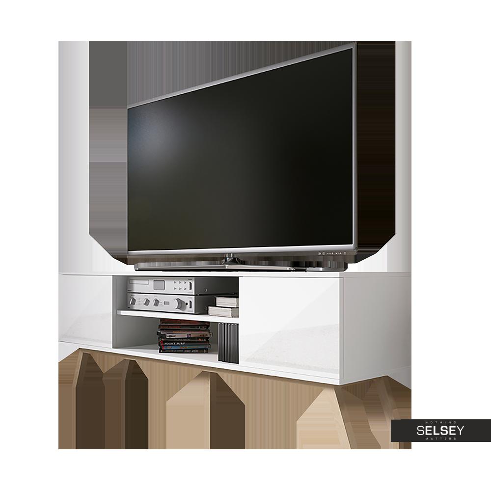 Tv Lowboard Verozia Lignnum 150 Cm Weiss Matt