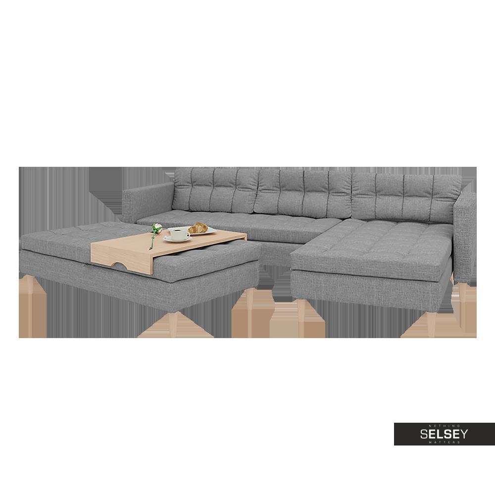 ecksofa kopenhagen mit hocker bettfunktion und bettkasten sawana 21. Black Bedroom Furniture Sets. Home Design Ideas