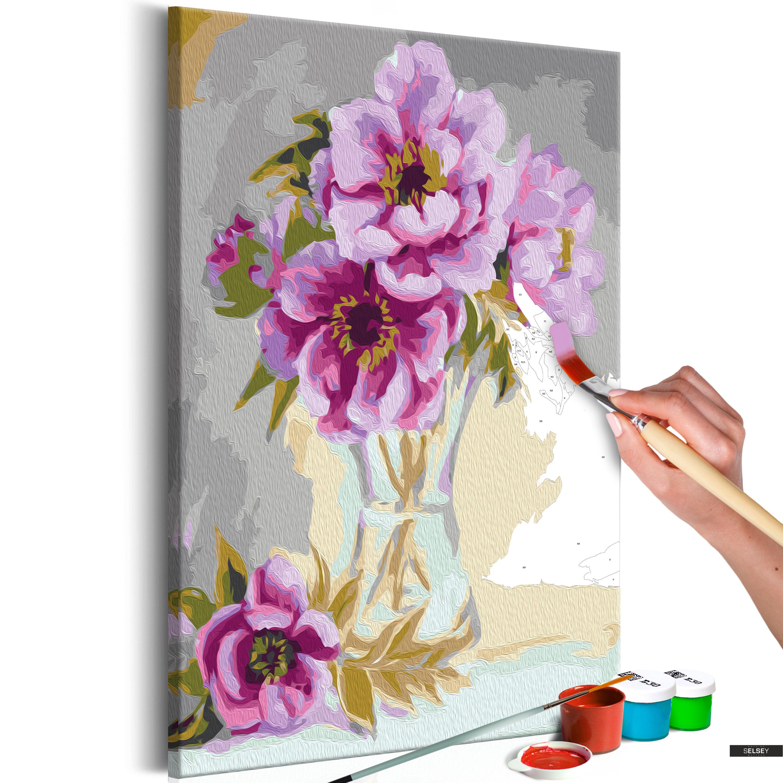 Ausmalbild Blumen In Der Vase