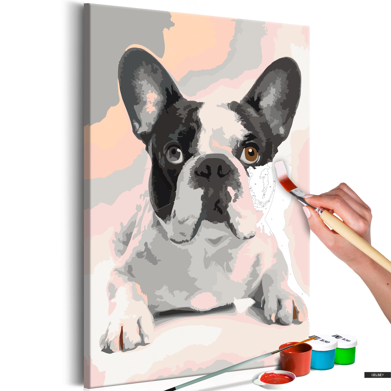 Malen Nach Zahlen Französische Bulldogge
