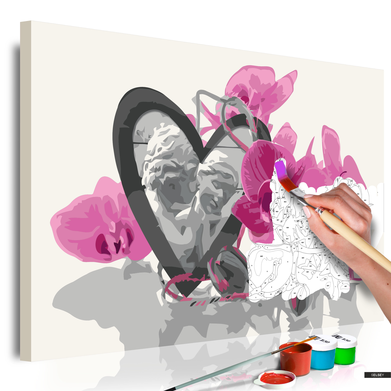 Ausmalbild Engel Mit Herz Und Orchidee