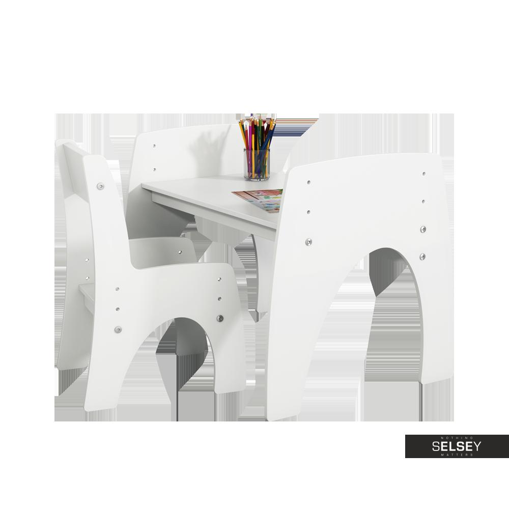 Kindertisch mit Stuhl KLIPS weiß höhenverstellbar