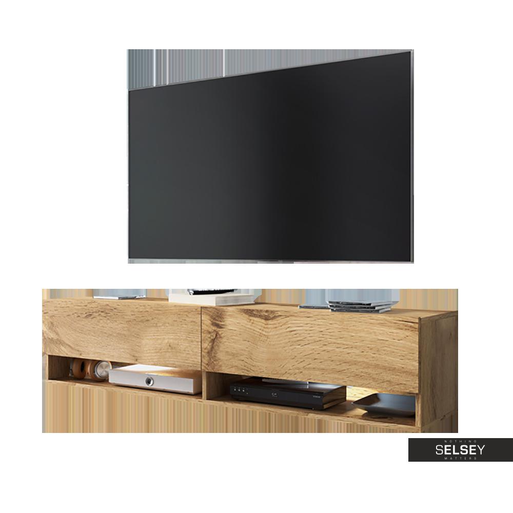 TV-Lowboard WANDER 140 cm hängend optional mit LED RGB