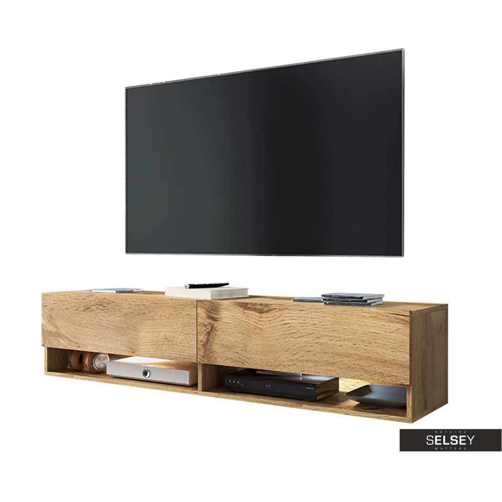 TV-Lowboard WANDER 140 cm hängend/stehend optional mit LED RGB