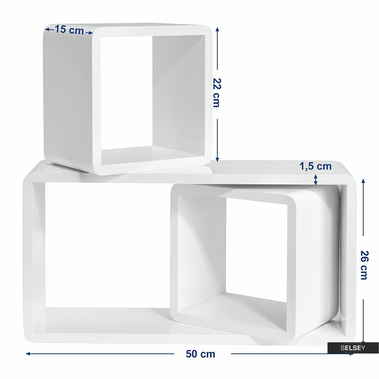 Wandregal Kaliopsi Weiss Mit Abgerundeten Ecken Im Cube Design