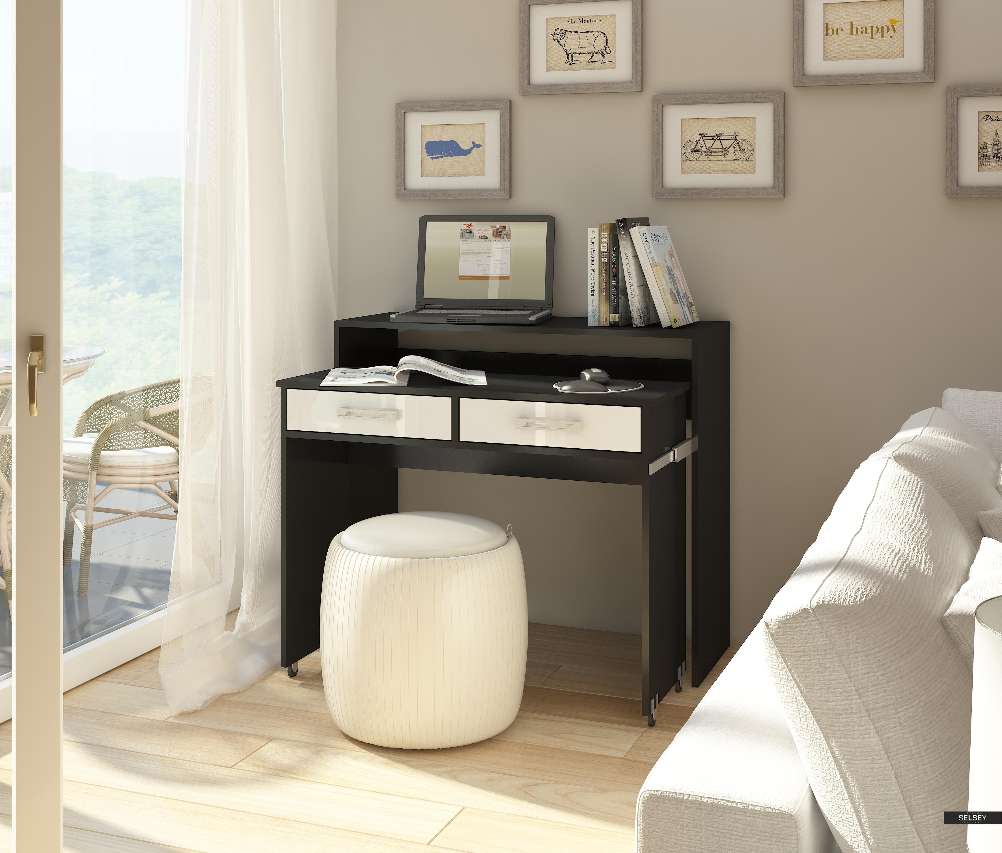 ausziehbarer schreibtisch cocos. Black Bedroom Furniture Sets. Home Design Ideas