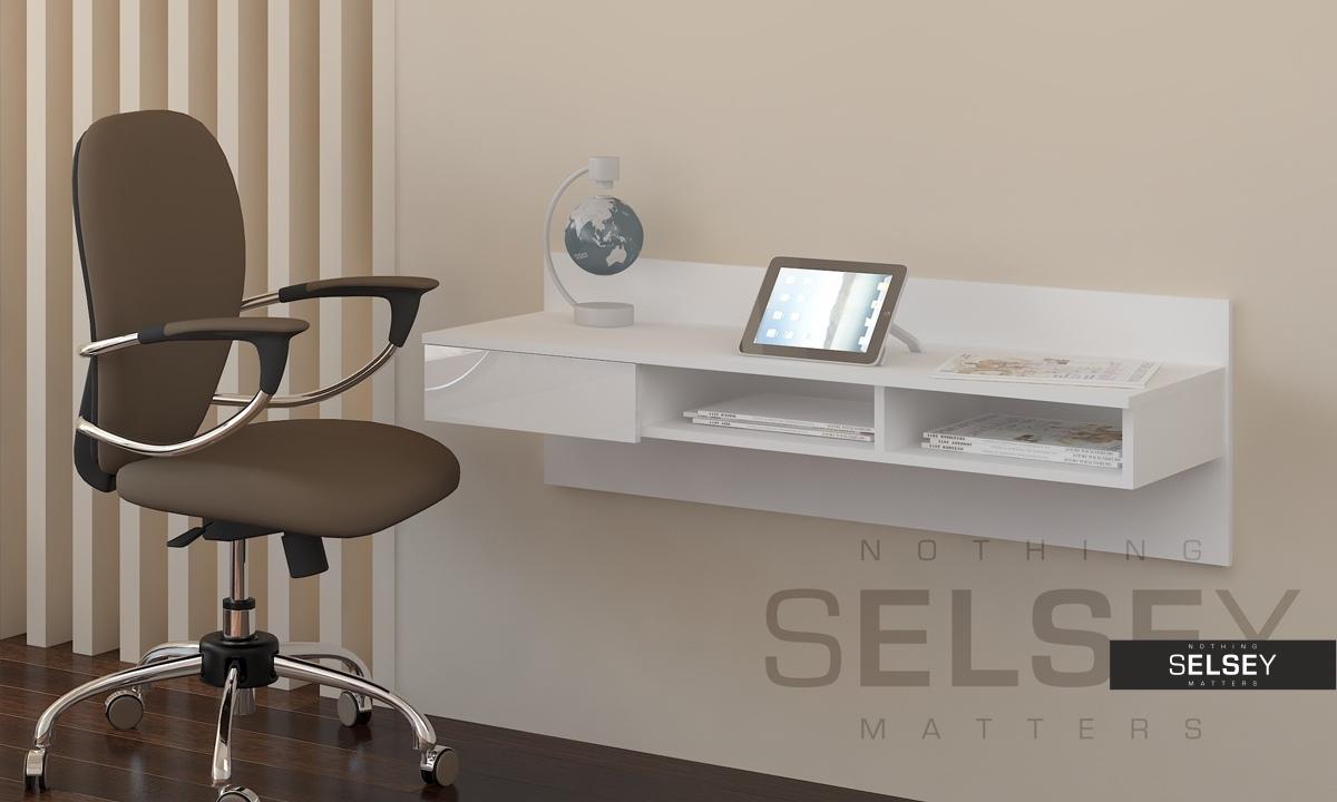 wand schreibtisch grafen mit ohne wandregal. Black Bedroom Furniture Sets. Home Design Ideas