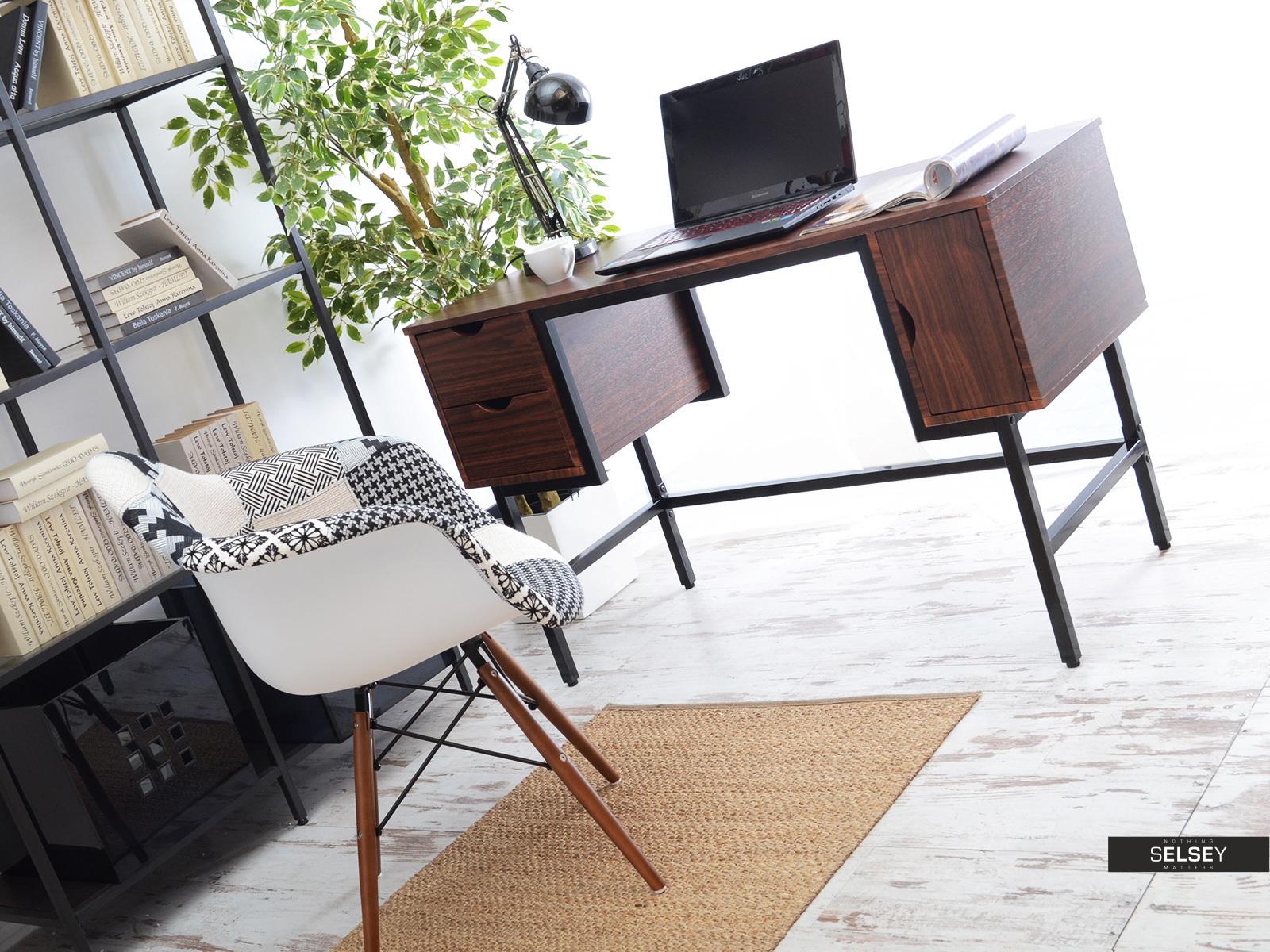 schreibtisch loft nussbaum. Black Bedroom Furniture Sets. Home Design Ideas