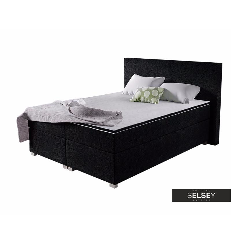 boxspringbett eureka mit taschenfederkernmatratze und topper. Black Bedroom Furniture Sets. Home Design Ideas