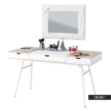 Schreibtisch BODUNA weiß im skandinavischem Stil