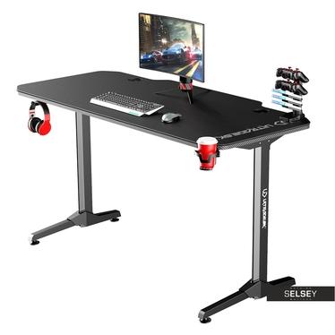 Gaming Tisch GAMORA Schwarz 140 cm breit