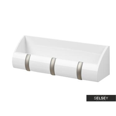 Wandgarderobe CUBBY weiß Garderobenleiste mit Ablage