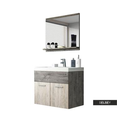 Badmöbel-Set SILLALI 3-teilig mit Waschbecken