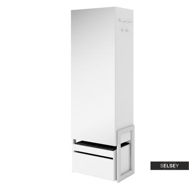 Garderobenschrank BLENES mit Spiegel und Sitzbank