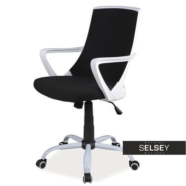 Schreibtischstuhl GENNER schwarz höhenverstellbar mit Drehfunktion