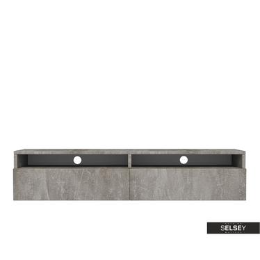 TV-Lowboard REDNAW mit 2 Schubladen, 140 cm