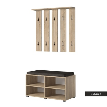 Garderoben-Set GASRO in Holzoptik mit Schuhregal