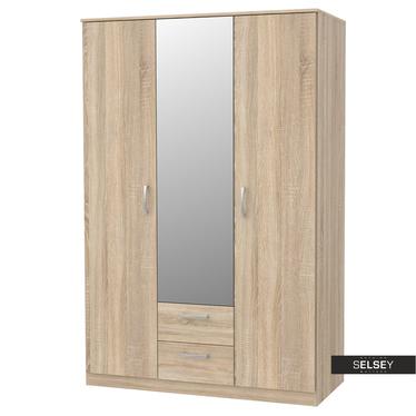 Kleiderschrank MERCURUM mit Spiegel und 2 Schubladen