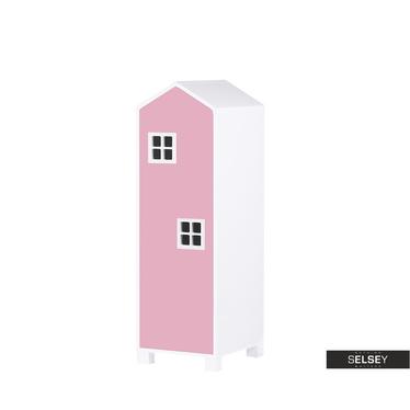 Kinderzimmerschrank VESPE rosa 126 cm hoch