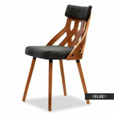 Stuhl CRABI Nussbaum/schwarz