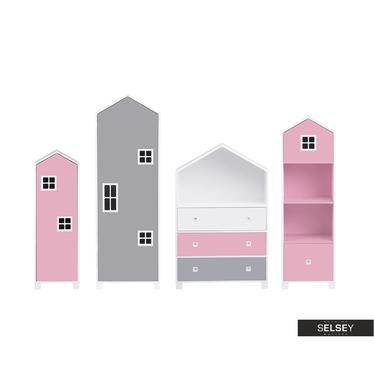 Kindermöbel-Set VESPE rosa / grau