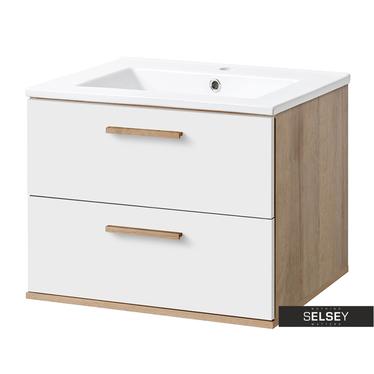 Waschbeckenunterschrank AUSTIN weiß 60 cm