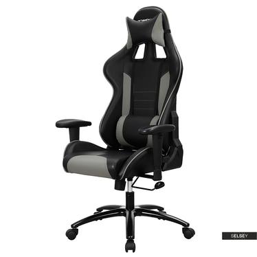 Gaming Stuhl MANJARAN RABBIT schwarz/grau