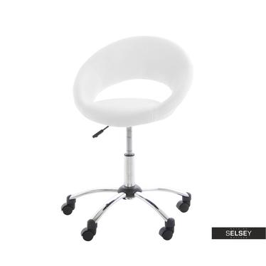 Bürostuhl BEREG Weiß mit Kunstlederbezug