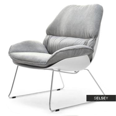 Sessel DREAM weiß/grau für drinnen und draußen