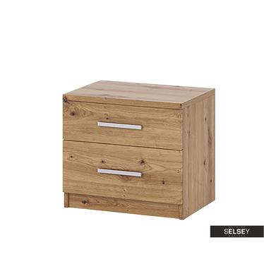 Nachttisch RINKER mit 2 Schubladen