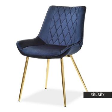 Stuhl ADEL dunkelblau Vintage