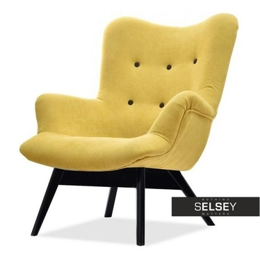 Sessel FLORIALLE gelb/schwarz