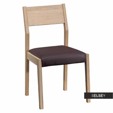 Stuhl MADERA mit Echtlederbezug