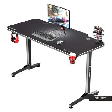 Gaming Tisch GAMORA Schwarz / Weiß 140 cm breit
