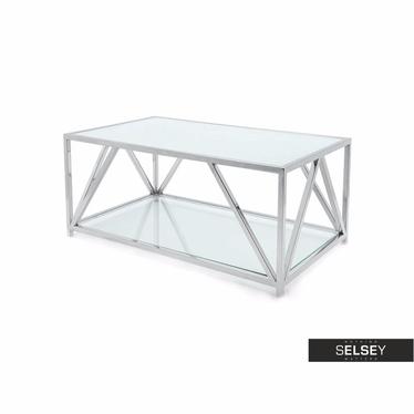 Couchtisch OZGAR mit 2 Glasplatten 120x70 cm