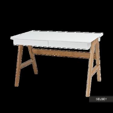 Schreibtisch HENJA weiß/Eiche